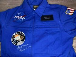 Fred Haise Apollo 13 Signed Blue Flight Suit With Patch Nasa Steve Zarelli Coa