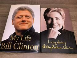 Bill Clinton And Hillary Clinton Signed Autograph My Life Living History 1ed