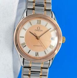 Mens Omega Speedmaster 18k Rose Gold And Ss Watch - Automatic - Gold / Silver