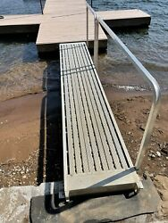 Boat Dock Ramp Aluminum 13andrsquo6x 28andrdquo Removable Hand Rail Dock Connection Fitting
