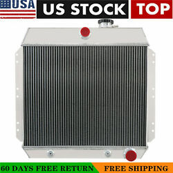 For 1949-1954 Chevy Bel Air Cars Coupe Sedan I6 6cyl 3 Row Aluminum Radiator