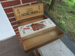 Vintage Lot Of Cigar Boxes Factory Longs And Shorts Smokers Red Lion Pa Box Wood