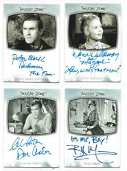 The Twilight Zone - Inscription Autograph Card And Printing Plate Selection Nm