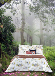 Belle De Nuit From Yves Delorme France Organic Cotton Percale Duvet Cover