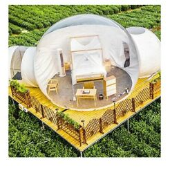 Inflatable Double Rooms Bubble Tent Main Room 4m Dia Small Room 2m Dia Tunnel 2m