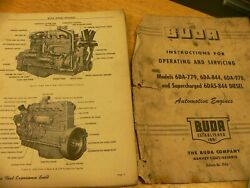 Buda Diesel Operating And Servicing Manual, Including Supercharged Model