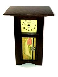 Schlabaugh And Sons Motawi Tile Mantel Clock