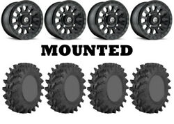 Kit 4 Sti Outback Max Tires 32x10-14 On Fuel Vector Matte Black D579 Wheels 550