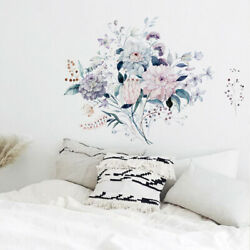 Lovel Flowers Wall Decals Self Adhesive Mural Wall Stickers Home Decoration PVC