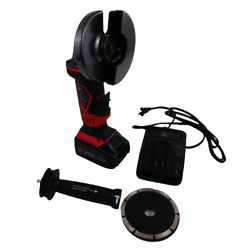 Nocry 20v Cordless Grinder Kit Fast Charger With Carrying Case Black/red 04657