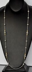 Konstantino 33 Long Necklace 18k Yellow Gold Sterling Silver Kleos New Gorgeous