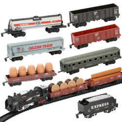 Classic Retro Steam Trains Engine Heads + 9 Cars And Railway Electric Kids Toy Set