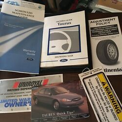 Oem 2002 Ford Taurus Sel Owners Manual Kit Case Wallet Quick Tips Warranty Guide
