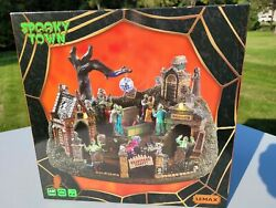 Brand New Lemax Spooky Town Graveyard Party Halloween Village House Piece