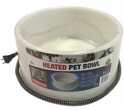 Fi Heated Electric Dog Cat Pet Water Bowl Outdoor Waterer 1.5 Gallon Speckle