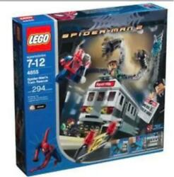 Lego Spider Man's Train Rescue 4855 In 2004 Building Toys Rare New Japan
