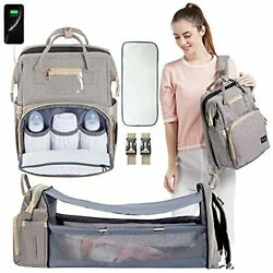 Beaulyn 6 in 1 Diaper Bag Backpack Organizer with Bassinet Foldable Baby Bags... $44.22