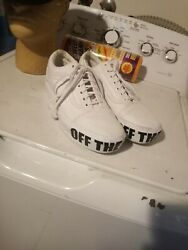 VANS Off The Wall White Men#x27;s Skate Shoes Low Top Sneakers Size 7.5M 9W US