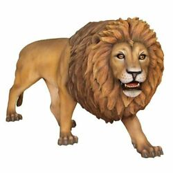 Lion Walking King Of Jungle Life Size Statue