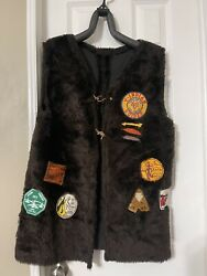Vintage Camp Vest W/ Patches Camp Loma Mar / Potawatomie / Y- Indian/ Kite Fly