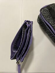 Thirty one bags gifts wristlet purple black beautiful quality travel accessory $18.00