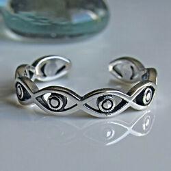 Fashion Silver Handmade Eye Of God Ring Party Band Jewelry Adjustable Gift