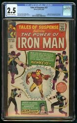 Tales Of Suspense 1964 57 Cgc 2.5 1st Appearance And Origin Hawkeye