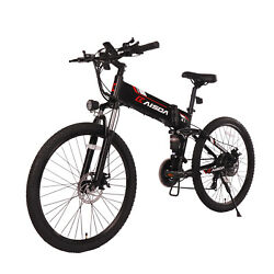 Kaisda K1 26and039and039 Folding Electric Bike 48v10ah Ebike Battery Off Road Pedal Assist