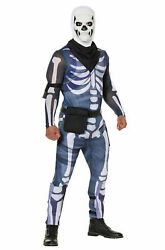 Fortnite Skull Trooper Adult Costume Skeleton Jumpsuit Cosplay Outfit Small