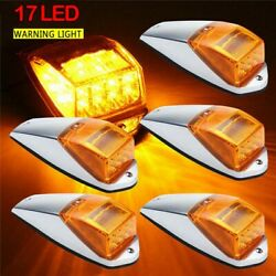5 Amber 12led Cab Roof Top Marker Running Lights Yellow Lens For Ford Suv Truck