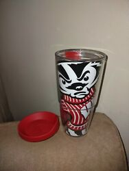 Wisconsin Badgers tervis tumbler with red lid Large 24 Oz.