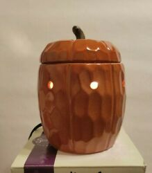 Scentsy Pumpkin Mid Size Warmer Fall Thanksgiving Autumn Retired 2010