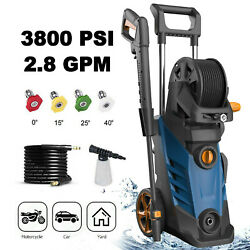 3800psi 2.8gpm Electric Pressure Washer Water Cleaner Power Sprayer Kit 1800w