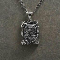 Fashion Punk Rock Silver Handmade Owl Pendant Band Party Necklace Halloween Gift