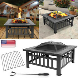 Fire Pit Bbq Grill Pits Outdoor Portable Garden Patio Heater Fireplace Brazier