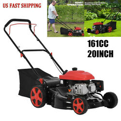 161cc 20 High-wheeled Fwd Self-propelled Gas Powered Lawn Mower With Straw Bag