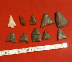 Artifacts,authentic Arrowheads, Bird Points Lot 40