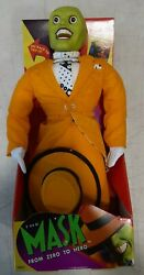 Kenner 1995 The Mask Jim Carrey 16 From Zero To Hero Poseable Plush Doll New