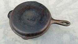 Vintage Lodge 8 Fs Cast Iron Four In One Skillet Double Cooker Flat