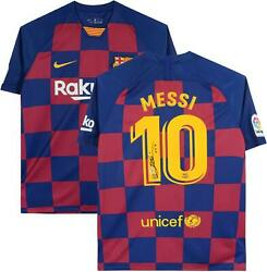 Lionel Messi Barcelona Autographed 2019-20 Home Jersey Icons
