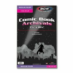 1 Case Of 500 Bcw Silver Age Comic Book Mylar Storage Bags 2 Mil.