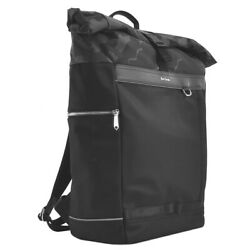 Paul Smith Backpack Mens Black Commuting To Work School M1a5829 Rolltop Pr