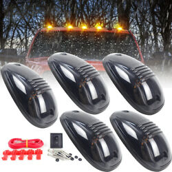 5pc Cab Lights Smoked Amber Running Marker Parking Roof Top Led Truck 4x4 Pickup