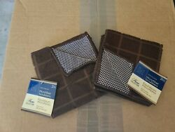 2 PACKS Home Collection Microfiber Scrubbers Washcloths 4 TOTAL CLOTHS *NEW*