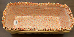 Longaberger Bread basket with liner and plastic tray