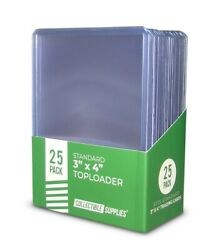 1 Full Case - 1000 Standard 3 X 4 Top Loaders Collectible Supplies 35pt.