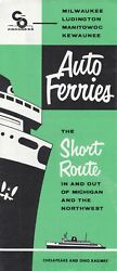 Ship 1957 Cando Car Ferry Brochure, Schedule, Route And Port Maps Advertising Piece
