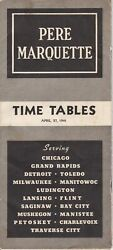 Rr 1941 Pmrr Pere Marquette Railroad Routes And Car Ferry Brochure, Schedules, Map