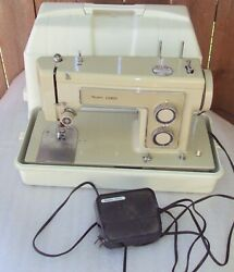Sears Kenmore Portable Sewing Machine 5186 W/footpedal Case 158.13180 Tested