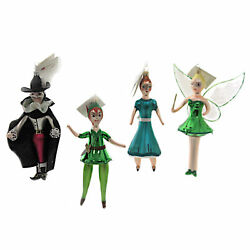 Laved Italian Ornaments Peter Pan Glass Tinker Bell Wendy Captain Hook Set003